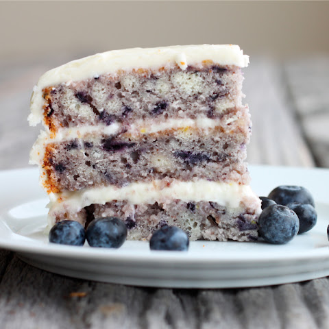 Moist Blueberry Cake with Light Lemon Icing