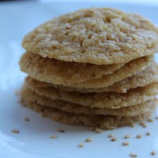 Sesame Cookies (Benne Wafers)