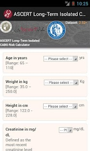 ASCERT CABG Survival Calc - screenshot
