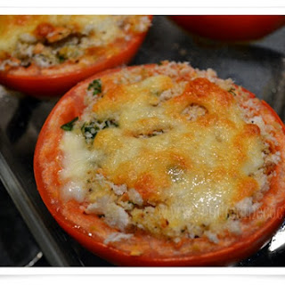 Tomatoes Stuffed with Cheese and Bread