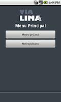 Screenshot of Via Lima: Metro de Lima