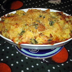 Savory Spinach and Artichoke Bread Pudding
