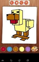 Screenshot of Coloring Book: Minecraft