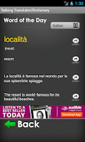 Screenshot of Italian Translator/Dictionary