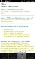 Screenshot of TESDA