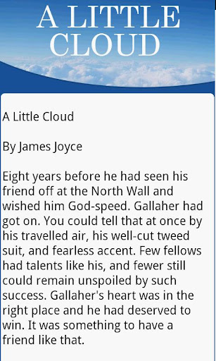 james joyce a little cloud