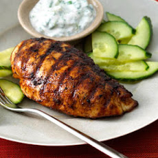 Bahamian-Spiced Chicken with Yogurt-Cilantro Sauce