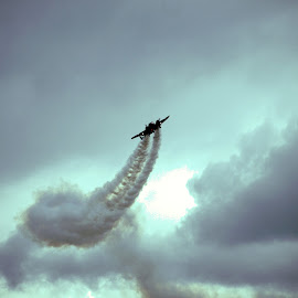 Show smoke by Kimmarie Martinez - Transportation Airplanes ( plane, airplane, aerobatics, jet, smoke, contrail, air show )