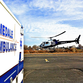 Life Flight by Vern Tunnell - Transportation Helicopters