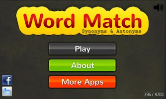 Screenshot of Word Match: Synonym & Antonym