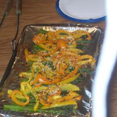 Grilled or Oven Roasted Bell Peppers and Asparagus