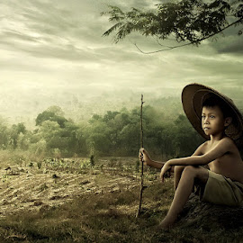 Potret Anak Desa by Ipoenk Graphic - Digital Art People
