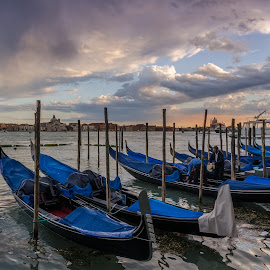 Gondola Park by Nigel Logan - Transportation Boats ( venice )