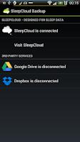Screenshot of SleepCloud Backup