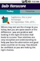 Screenshot of Sagittarius Daily Horoscope