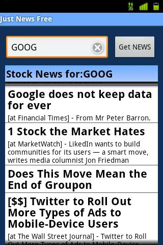 Just Market News Free