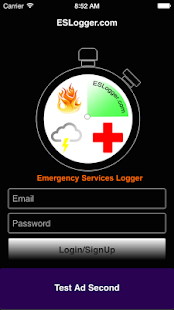Emergency Services Logger - screenshot