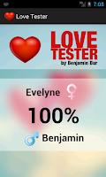 Screenshot of Love Tester