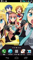 Screenshot of Vocaloid Live Wallpaper Miku