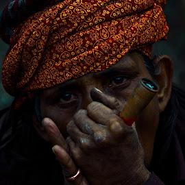 Face by Debasrita Sarkar - People Portraits of Men