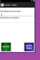 Screenshot of Matrices Gauss-Jordan