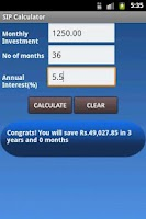 Screenshot of SIP calculator