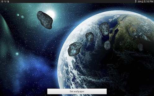 3D Meteors B - screenshot