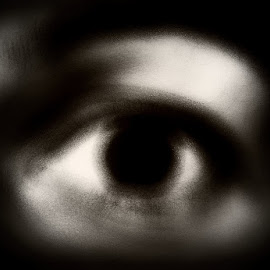 by Dalibor Davidovic - People Body Parts ( black and white, eye )