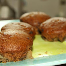 Vegan Apple-Bottomed Gingerbread Muffins