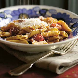 Suvir Saran's Penne with Popped Tomatoes and Bacon