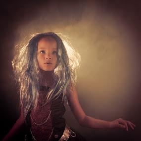 Monster High by Joseph Belcher - Babies & Children Child Portraits ( old, seven, 7, kayla belcher, monster high, years, smoke, halloween )
