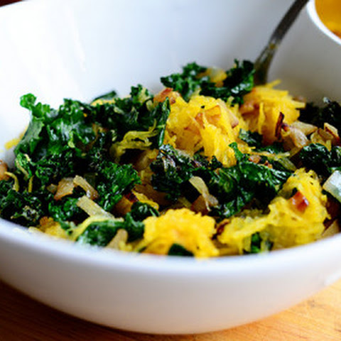 Roasted Spaghetti Squash and Kale