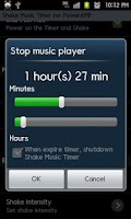 Screenshot of PowrAMP ShakeMusicTimer