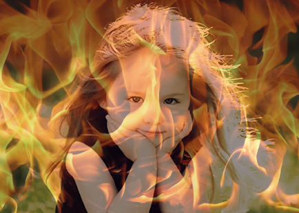 Transparent Fire Photo Effect - screenshot