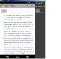 Screenshot of Bible: Latin Vulgate + DRC