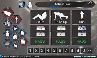 Screenshot of Platoon Leader Notebook