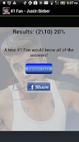 Screenshot of #1 Fan - Justin Bieber - LITE
