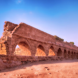 CAESAREA AQUEDUCT by Oliver Costales - Buildings & Architecture Public & Historical