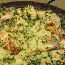 Walnut Pesto Chicken With Garlic and Parmesan