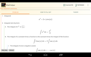 Screenshot of Math Helper - Algebra Calculus