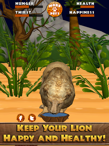Virtual Pet Lion - screenshot