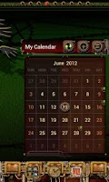 Screenshot of Steampunk GO Calendar Theme
