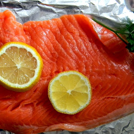 Fresh salmon for dinner tonight! by Liz Hahn - Food & Drink Meats & Cheeses