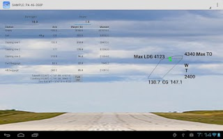 Screenshot of Aircraft Weight & Balance