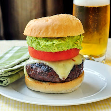 Chorizo Pepper Jack Cheeseburgers with Guacamole