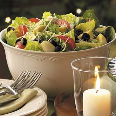 Lemon Artichoke Romaine Salad