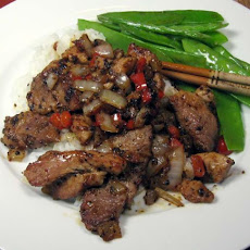 Thai Style Pork in Black Pepper [moo Pat Prik Thai Dam]