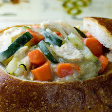 Tarragon Chicken in Bread Bowls
