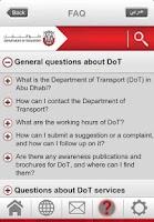 Screenshot of Department of Transport