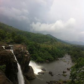 Athrapally waterfall kerala by Milind Desai - Nature Up Close Water ( water, nature, green, waterfall, trees )